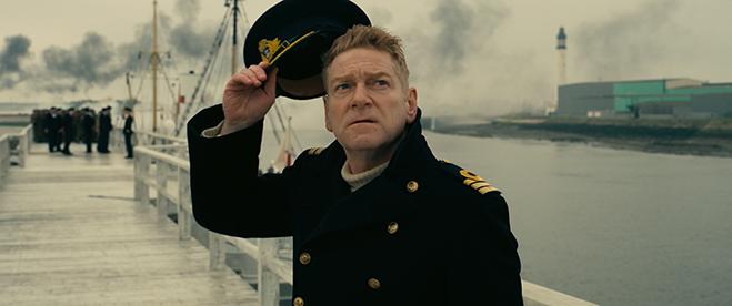 Kenneth Branagh as Commander Bolton in Dunkirk.